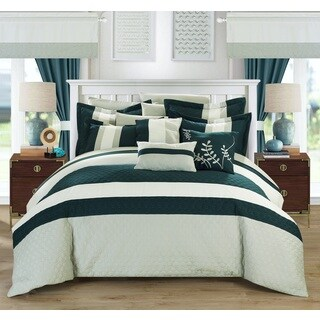 Copper Grove Norreskoven Teal 24-piece Bed in a Bag with Sheet Set