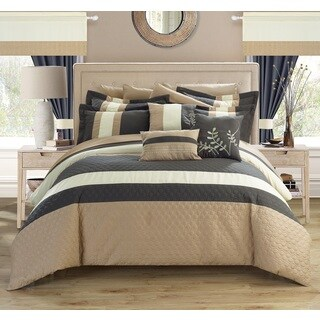 Copper Grove Norreskoven Grey 24-piece Bed in a Bag with Sheet Set