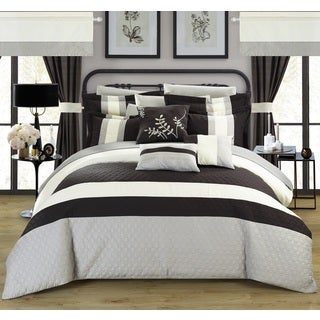 Chic Home Lorena Black 24-piece Bed in a Bag with Sheet Set