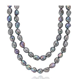PearlAura Freshwater Peacock Baroque Endless 32-inch Pearl Necklace (10 - 11 mm)|https://ak1.ostkcdn.com/images/products/10910112/P17941836.jpg?impolicy=medium