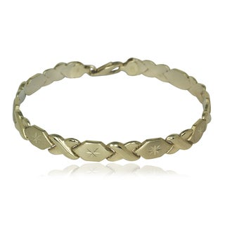 10k Yellow Gold Diamond-cut Stampato Bracelet