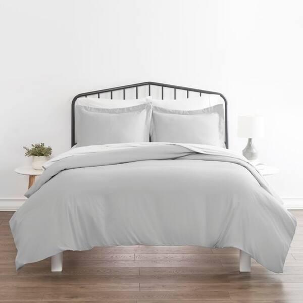 Soft Essentials Ultra Soft 3-piece Duvet Cover Set - Light Gray - King