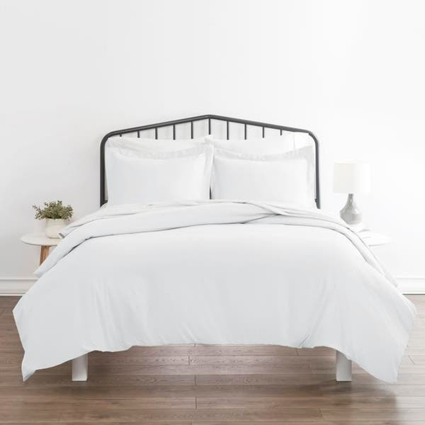 Soft Essentials Ultra Soft 3-piece Duvet Cover Set - White - Twin