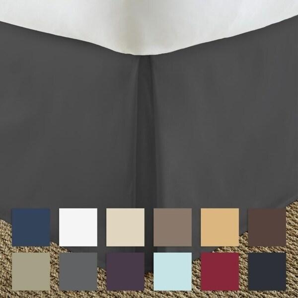 merit linens premium pleated 14inch drop bedskirt