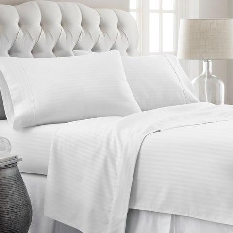 Soft Essentials Premium Ultra-soft Stripe Pattern 4-piece Bed Sheet Set