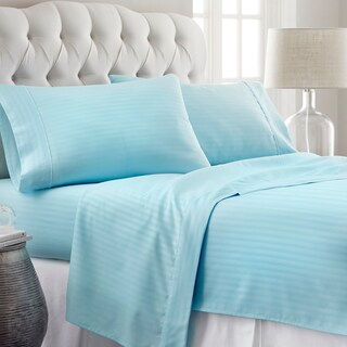 Soft Essentials Premium Ultra-soft Stripe Pattern 4-piece Bed Sheet Set (4 options available)