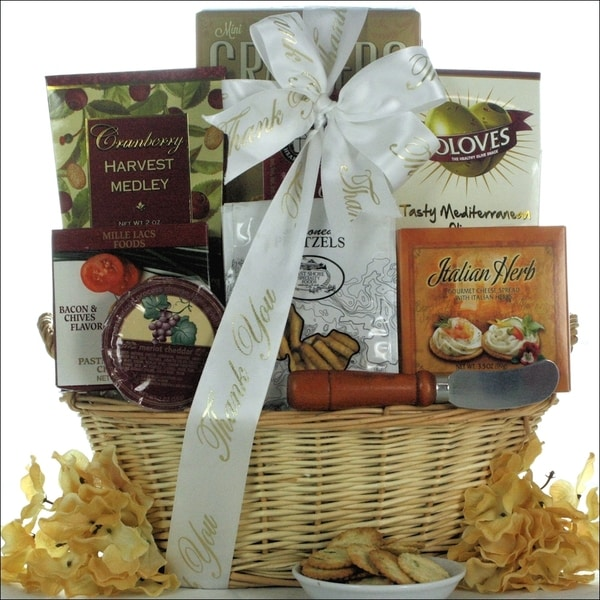 Taste of Tuscany Thank You Cheese and Snack Gift Basket
