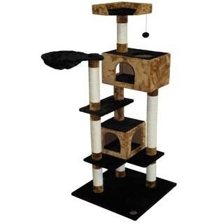 Go Pet Club Black/ Brown 61-inch Cat Tree