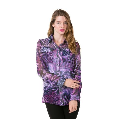 High Secret Women's Animal Print Blouse
