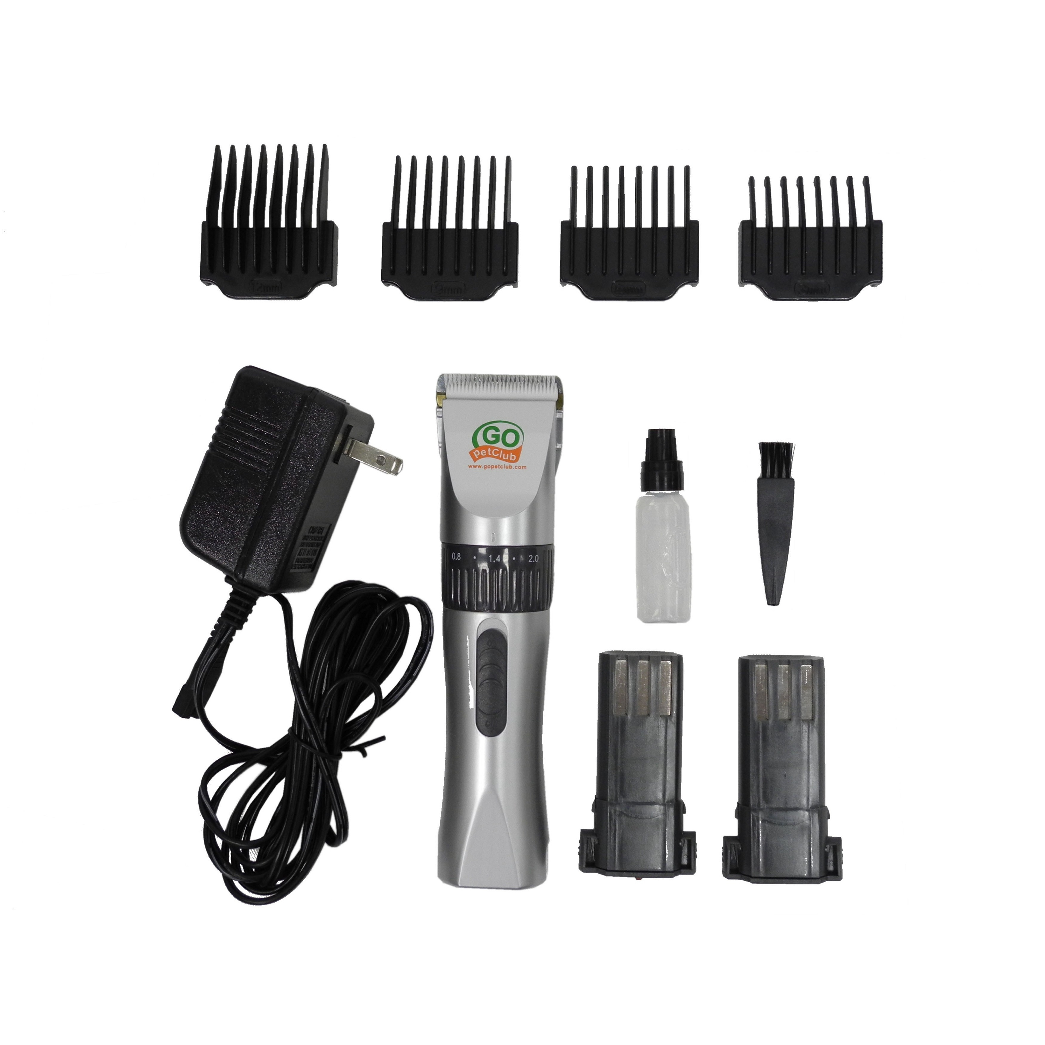 GoPetClub Rechargeable Pet Hair Grooming Clippers (6.75 x...