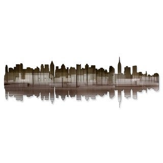 'New York City Reflection IV' Ash Carl Metal Wall Art