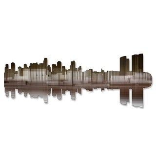 'Miami Reflection II' Ash Carl Metal Wall Art
