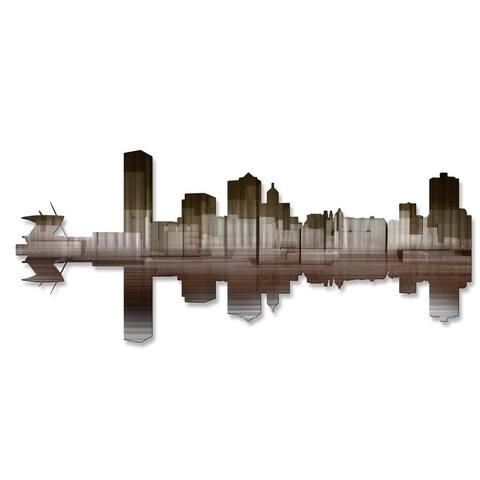 'Milwaukee Reflection II' Ash Carl Metal Wall Art