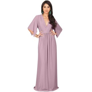 KOH KOH Women's V-neck Half Sleeve Empire Caftan Long Maxi Dress|https://ak1.ostkcdn.com/images/products/10910384/P17942107.jpg?impolicy=medium