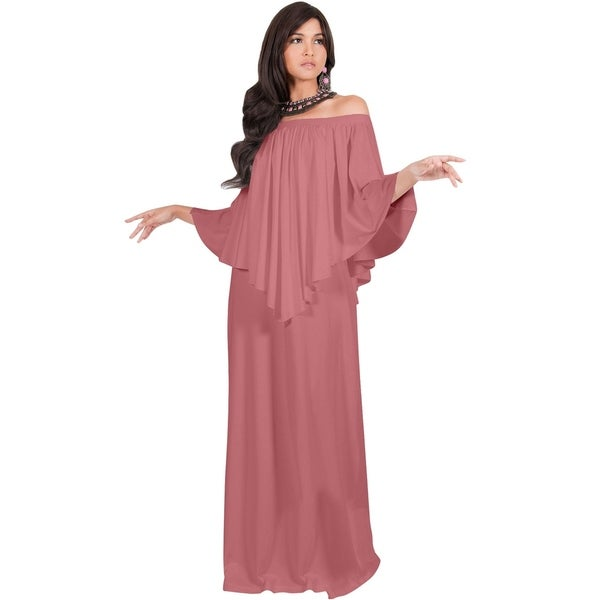 a61aed048db9b KOH KOH Women  x27 s Strapless Shoulderless Flattering Cocktail Maxi Dress