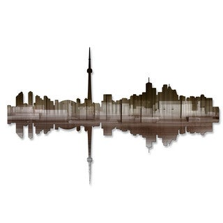 'Toronto Reflection II' Ash Carl Metal Wall Art