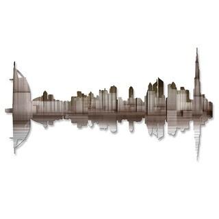 'Dubai Reflection II' Ash Carl Metal Wall Art
