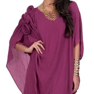 Koh Koh Women's Half Sleeve Mousseline Diva Evening Mini Dress