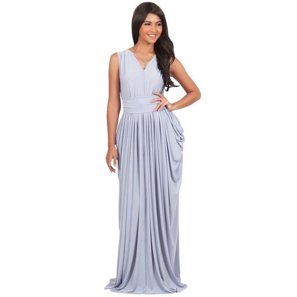 Shop Koh Koh Womens Sleeveless Formal Long Maxi Dress Ships To