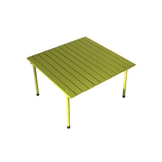 Green Color 16 Inches High Wooden Portable Table in a Bag