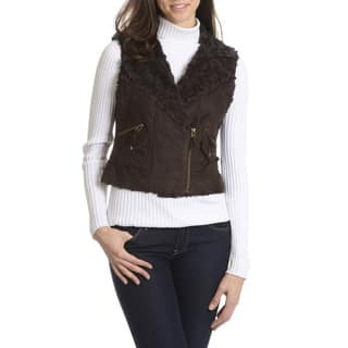 Ashley Women's Faux Fur Suede Vest|https://ak1.ostkcdn.com/images/products/10910472/P17942062.jpg?impolicy=medium