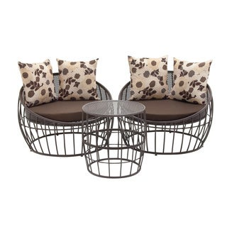 89764-Set of Three Metal Outdoor Chair & Table