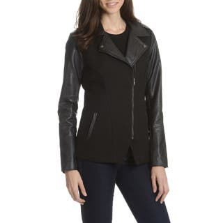 Ashley Women's Basketweave Angle Zipper Jacket|https://ak1.ostkcdn.com/images/products/10910507/P17942186.jpg?impolicy=medium