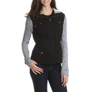 Ashley Women's Knit Inset Anorak Jacket|https://ak1.ostkcdn.com/images/products/10910526/P17942187.jpg?impolicy=medium