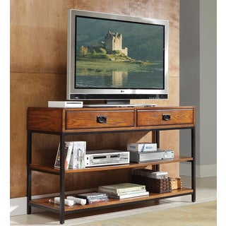 Modern Craftsman Distressed Oak TV Stand by Home Styles