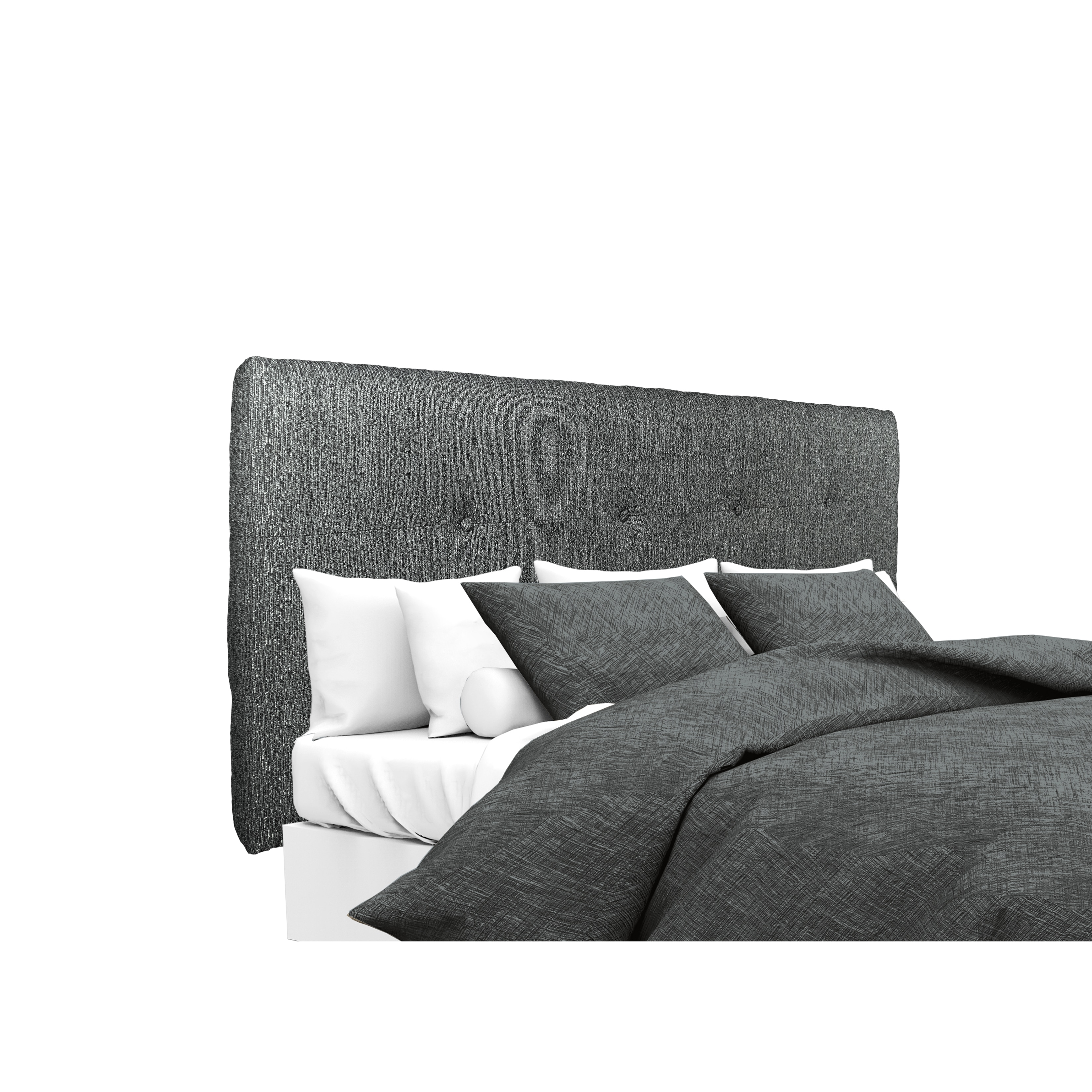 Details about mjl furniture ali button tufted text2 olivia charcoal upholstered headboard