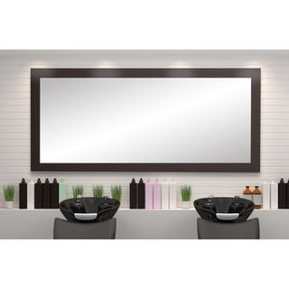BrandtWorks USA Matte Black 32 x 71-inch Floor Mirror