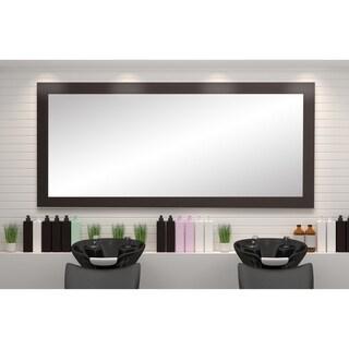 BrandtWorks USA Matte Black 32 x 71-inch Floor Mirror