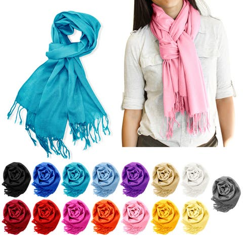 Gearonic Fashion Lady Women Long Pashmina Silk Scarf Wraps Shawl Stole