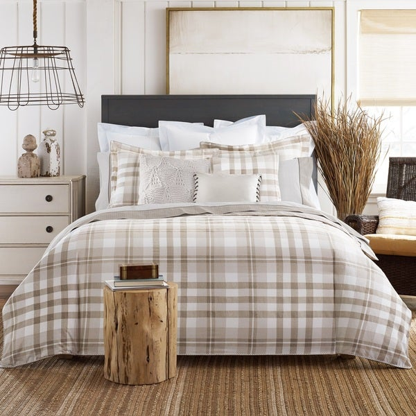Shop Tommy Hilfiger Cotton Range Plaid 3 Piece Comforter
