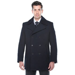 Verno Ramsay Navy Wool Blend Peacoat