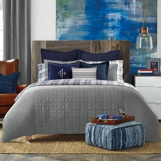 Tommy Hilfiger Grey Academy Comforter and Sham Separates