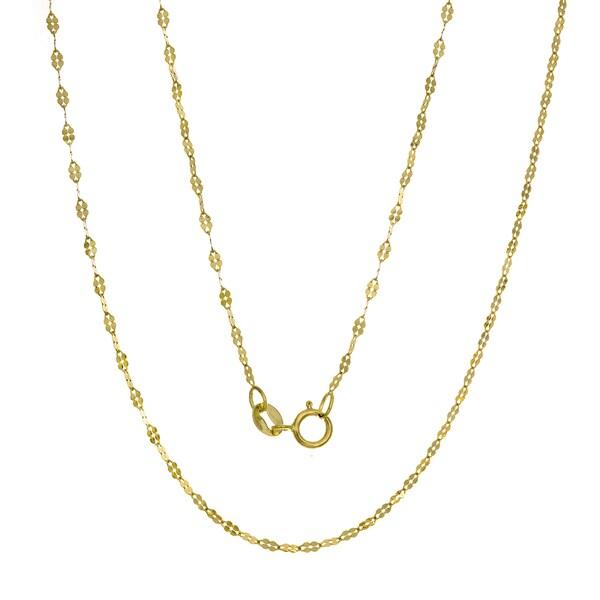 Italian 14K Gold Fancy Mirror Link Chain (16-20 inches )