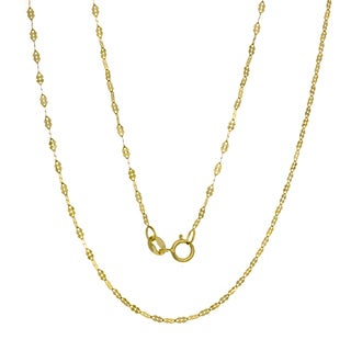 Roberto Martinez Italian 14k Gold Fancy Mirror Link Chain (16-20 inches )