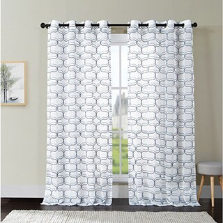 VCNY Khara Embroidered Sheer Curtain Panel with Grommets