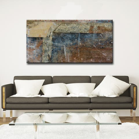 Abstract ABS XIII' Modern Rustic Canvas Wall Art