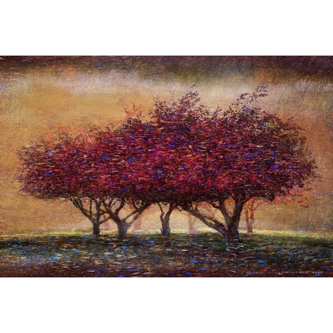Marmont Hill - Handmade Crabapple Blossoms Painting Print on Canvas