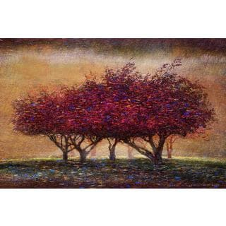Marmont Hill - Crabapple Blossoms by Chris Vest Painting Print on Canvas