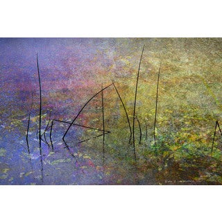 Marmont Hill - Pond Surface by Chris Vest Painting Print on Canvas