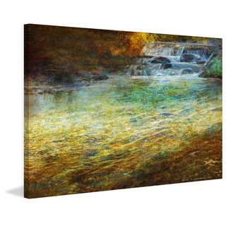 Marmont Hill - Waterfall Impressions by Chris Vest Painting Print on Canvas
