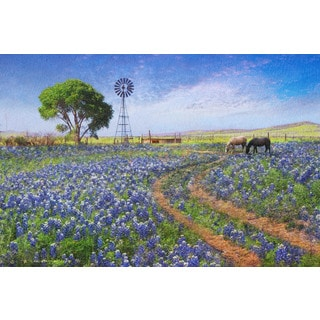 Marmont Hill - Windmill Landscape by Chris Vest Painting Print on Canvas