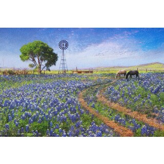 Marmont Hill - Windmill Landscape by Chris Vest Painting Print on Canvas (More options available)