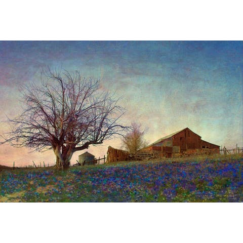 Marmont Hill - Handmade Barn On Hill Painting Print on Canvas