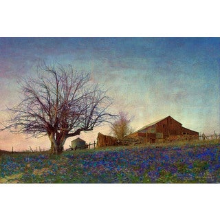 Marmont Hill - Barn On Hill by Chris Vest Painting Print on Canvas