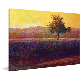 Marmont Hill - Lone Tree Sunset by Chris Vest Painting Print on Canvas