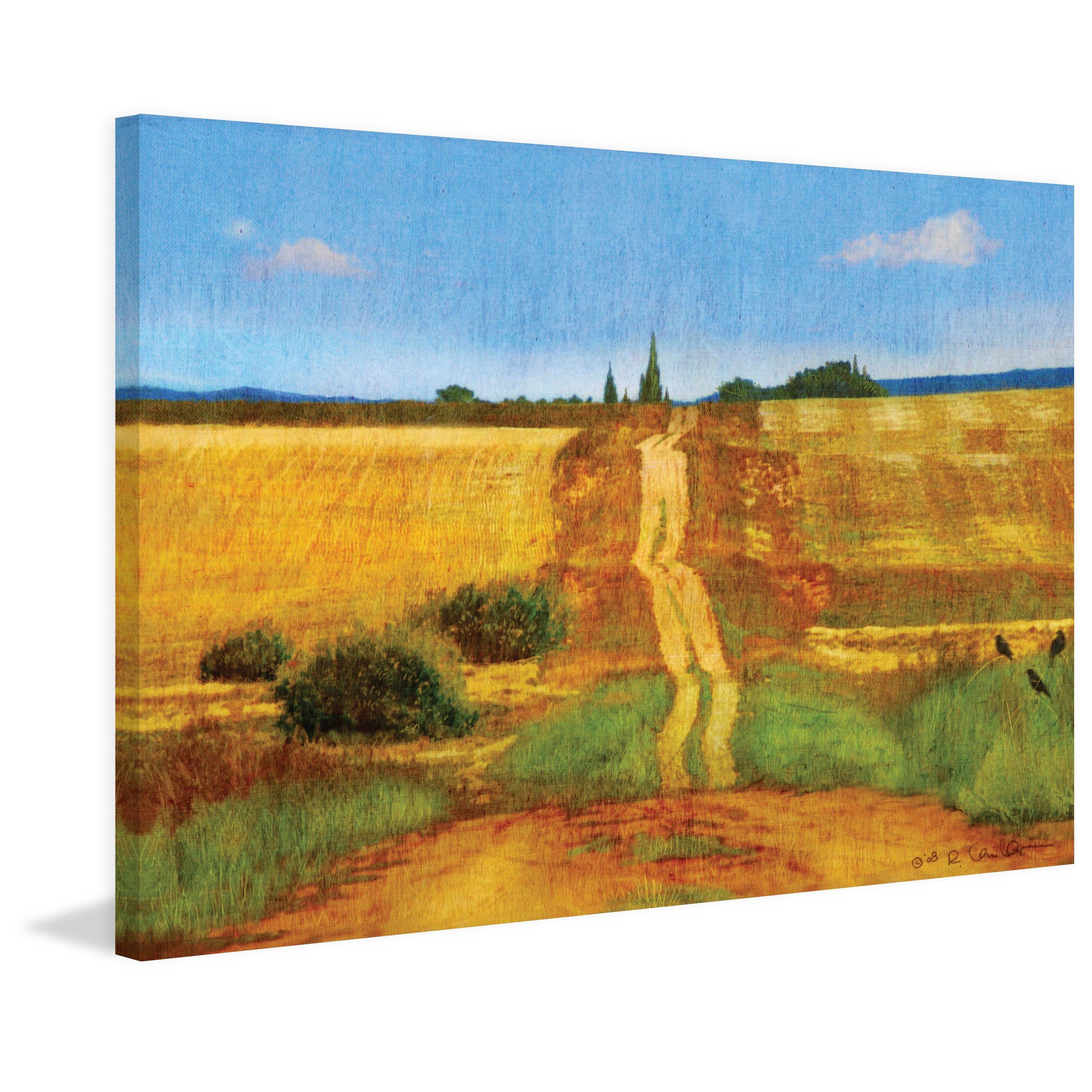 Marmont Hill Impressionist Road Wall Decor Landscape and Nature Home ...